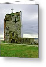 Church Tower - Remains Of St Helens Church Greeting Card