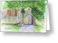 Church Trees Greeting Card