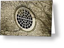 Church Window And Shadows 2 Greeting Card