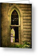 Church Window Church Bell Greeting Card