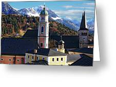 Churches In Berchtesgaden Greeting Card