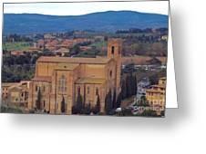 Churches Of Sienna Greeting Card
