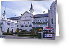 Churchill Downs Paddock Area Behind The Twin Spires Greeting Card