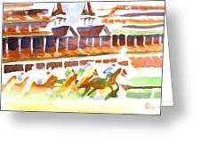 Churchill Downs Watercolor Greeting Card