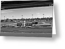 Churchill Downs' Winner's Circle In Black And White Greeting Card