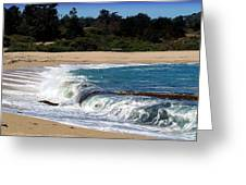 Churning Surf At Monastery Beach Greeting Card