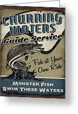 Churning Waters Guide Service Greeting Card