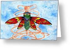 Cicada Cage Greeting Card