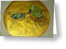 Cicada On Gold Greeting Card