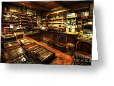 Cigar Shop Greeting Card by Yhun Suarez