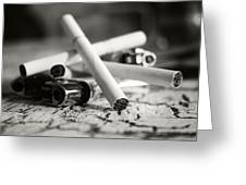 Cigarette And Lighters Greeting Card