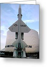 Cim-10a Bomarc Missile At The Air Force Museum Dayton Ohio Greeting Card