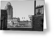 Cincinnati And Building  Greeting Card