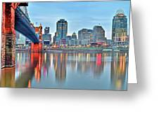 Cincinnati At Ground Level Greeting Card