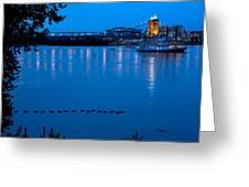 Cincinnati Belle Suspension Bridge Greeting Card