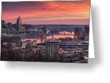 Cincinnati Devou Park Greeting Card