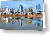 Cincinnati Ohio Times Two Greeting Card