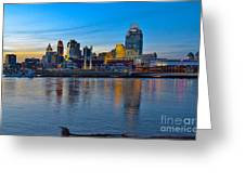 Cincinnati Skyline Across The Ohio River Greeting Card
