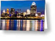 Cincinnati Skyline At Night  Greeting Card by Paul Velgos