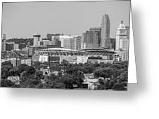 Cincinnati Skyline From Above  Greeting Card