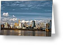 Cincinnati Skyline Hdr Greeting Card