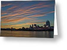Cincinnati Sunset Greeting Card