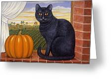 Cinder The Cat Greeting Card