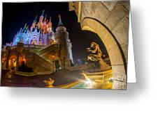 Cinderella And Her Castle Greeting Card