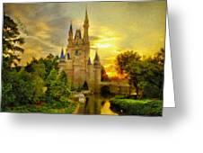 Cinderella Castle - Monet Style Greeting Card