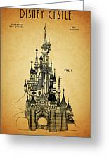 Cinderella Castle Patent Greeting Card