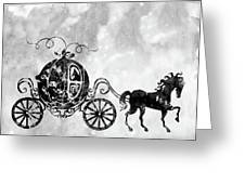 Cinderella's Carriage-black Greeting Card