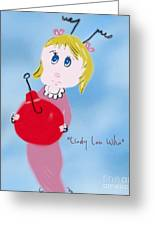 Cindy Lou Who Illustration  Greeting Card