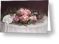 Spray Of  Roses Greeting Card