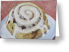 Cinnamon Roll Greeting Card