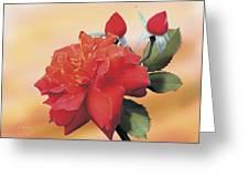 Cinnamon Roses Greeting Card