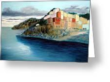 Cinque Terre Greeting Card by Larry Cirigliano