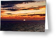 Cinque Terre - Sunset From Manarola - Panorama Greeting Card