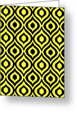 Circle And Oval Ikat In Black N05-p0100 Greeting Card