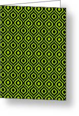 Circle And Oval Ikat In Black N09-p0100 Greeting Card
