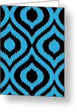 Circle And Oval Ikat In Black T02-p0100 Greeting Card