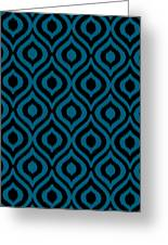 Circle And Oval Ikat In Black T05-p0100 Greeting Card