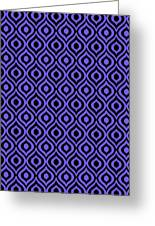 Circle And Oval Ikat In Black T09-p0100 Greeting Card