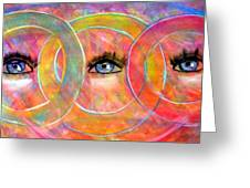 Circle Of Eyes Greeting Card