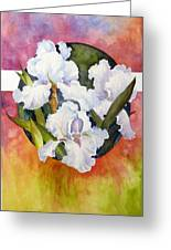 Circle Of Irises  Greeting Card