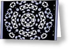 Circle Of Stars And Flowers Greeting Card