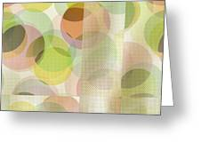 Circle Pattern Overlay II Greeting Card