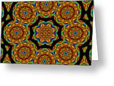 Circled Floral Mandala Greeting Card
