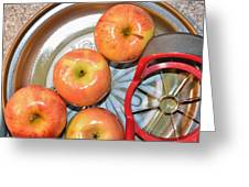 Circles 1 - Apples Greeting Card