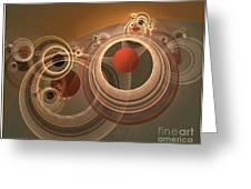 Circles And Rings Greeting Card