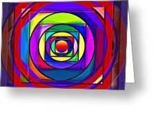 Circles And Squares Abstract Greeting Card